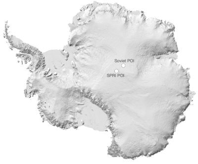 <p><strong>SOUTHERN POLE OF INACCESSIBILITY (POI)</strong></p> Example Image