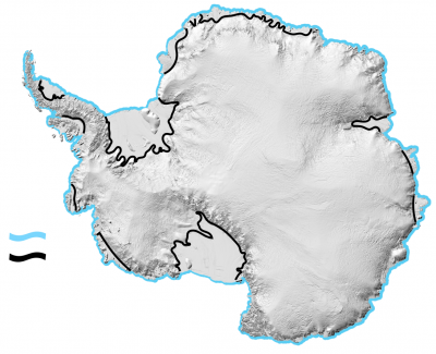 <p><strong>Coastal Margin</strong> in <strong>Antarctica</strong> - any nautical or geographical coastline.</p> Example Image