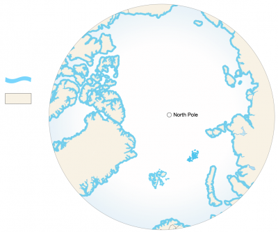 <p><strong>Coastal Margin</strong> on the <strong>Arctic Ocean</strong> - any point on land or shore</p> Example Image