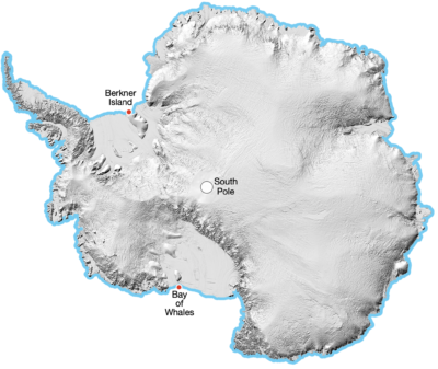A Full Crossing of Antarctica: Example Image