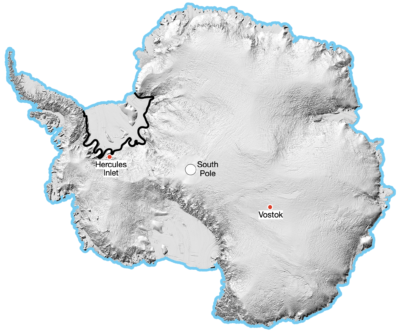 An Inland Crossing of Antarctica: Example Image
