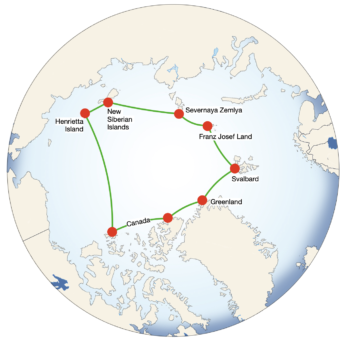 <p><strong>Circumnavigation</strong> of the <strong>Arctic Ocean</strong></p> Example Image