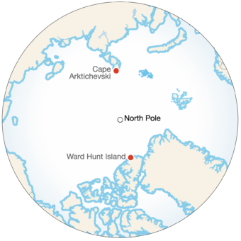 A Full Crossing of the Arctic Ocean Example Image